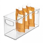 iDesign Plastic Stackable Organizer Storage Bin, Small