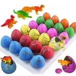 iGeeKid 24Pcs Dinosaur Eggs Easter Hatching Egg Toys