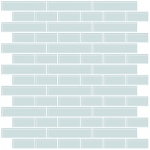inHome Sea Glass Peel & Stick Backsplash Tiles, Blue