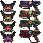 ArmoGear Infrared Laser Tag Guns and Vests – Laser Battle Mega Pack Set of 4