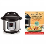 Instant Pot DUO60 6 Qt 7-in-1 Multi-Use Programmable Pressure Cooker with The Instant Pot No-Pressure Cookbook