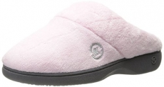 Isotoner Women's Classic Mixed Microterry Hoodback Slippers