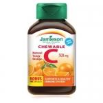 Jamieson Chewable Vitamin C 500 mg – Tangy Orange