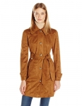 Jessica Simpson Women's Suede Rain Trench Coat
