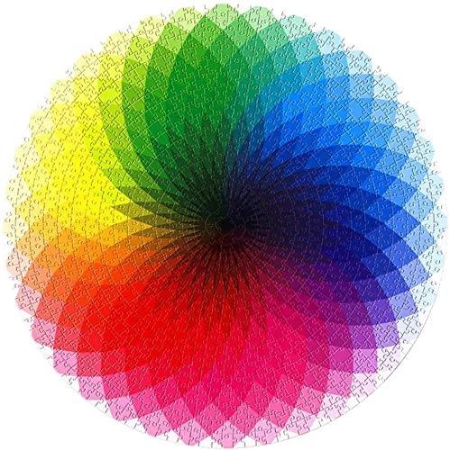 Round Rainbow Jigsaw Puzzle, 1000 Piece