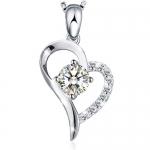 J.Rosée Silver The Beloved Heart Pendant Necklace