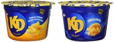 KD Kraft Dinner Snack Cups – Variety Pack – Original and 3 Cheese Macaroni & Cheese 58G x 12