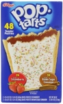Kellogg's Pop-Tarts Frosted Toaster Pastries, 24-Strawberries and 24-Brown Sugar Cinnamon, 48 Count