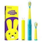 Fairywill Kids Rechargeable Sonic Electronic Toothbrush with Smart Timer and 3 Modes, Extra Soft Bristles and Cute Rabbit Travel Cover