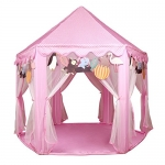 Kids Pink Princess Castle Playhouse Play Tent For Girls Indoor Outdoor