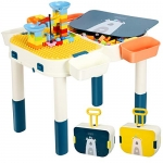 Toddler Activity Table 6 in 1 Multi Set with Building Blocks