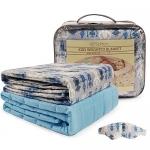 "Softan Kids Weighted Blanket Set(41""x60"" 7lbs), Blue Robot"