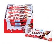 Kinder Bueno Milk Chocolate and Hazelnut Cream Candy Bar, 20 Packs,