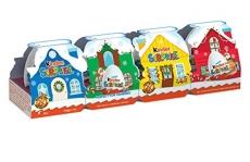 Kinder Surprise Christmas Village, 4 Count