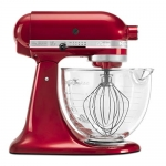 KitchenAid Artisan Design Series 5-Quart Tilt-Head Stand Mixer with Glass Bowl, Candy Apple Red