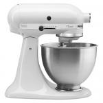 KitchenAid Classic 4.5-Quart Bowl Stand Mixer, White