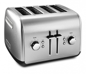 KitchenAid 4-Slice Toaster with Manual High-Lift Lever, Brushed Stainless
