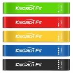 Kivorich Fit Resistance Bands, Exercise Workout Bands Set of 5