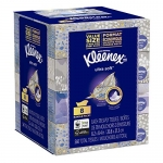 Kleenex Ultra Soft Facial Tissues, Flat Box, 70 Tissues per Box, 8 Pack