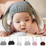 KOKOBUY Baby Winter Cap Cute Warm Rabbit Ears Knitted Beanies Hat