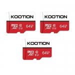 KOOTION Micro SD Card 64GB, 3pcs