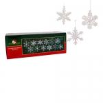 Kurt Adler 2″ Glass Iridescent Snowflake Ornaments, 12-Piece Set