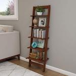 Lavish Home 5-Tier Ladder Bookshelf, Walnut