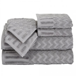 Lavish Home Chevron Egyptian Cotton 6-Piece Towel Set