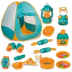 Pop Up Tent with Kids Camping Gear Set, 20 PCS
