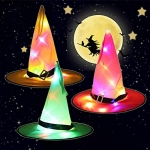 LED Witch Hat Lights Halloween Decorations Outdoor 4 Pcs