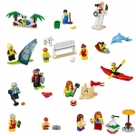 LEGO City Town People Pack Fun At the Beach Building Kit, 169 Piece