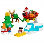 LEGO Duplo Town Santa's Winter Holiday Building Kit, 45 Piece