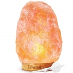 Levoit Kana Hand Carved Natural Himalyan Pink Glow Salt Rock Lamp