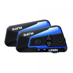 LEXIN 2pcs Motorcycle Bluetooth Headset with FM Radio, Helmet Communication With Noise Cancellation Technology