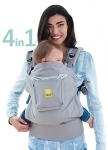 LILLEbaby 4 in 1 ESSENTIALS Baby Carrier – Grey w/ Eternity Knot