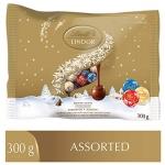 Lindt Lindor Christmas Mini Balls Assorted Chocolate, Bag, 300g