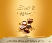 Lindt Swiss Luxury Selection Gift Box, Fine Milk, Dark and White Chocolate, 415g