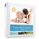 LinenSpa Premium Mattress Protector, 100-Percent Waterproof, Hypoallergenic, Vinyl Free, Queen/White