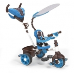 Little Tikes 4-in-1 Trike Ride On, Blue/White, Sports Edition
