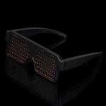 Lixada LED Animated Rechargeable Glasses