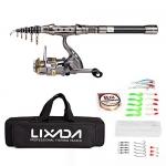 Lixada Telescopic Fishing Rod and Reel Combos Full Kit
