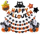 Halloween Balloons Banner Kit (42 Pcs)
