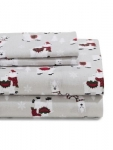 Distinctly Home Llama Drama 4-Piece Flannel Sheet Set