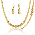 Lovely Ball Set Stamp 18K Gold Plated Party Necklace