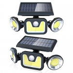 Ltteny Outdoor 83 COB LED Solar Motion Sensor Lights with 3 Modes, 2 Pack
