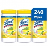 Lysol Disinfecting Surface Wipes, Citrus, 3X80 Wipes