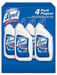 Lysol Toilet Bowl Cleaner, Power, Complete Clean, Family Pack, 4 x 946 ml
