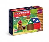 Magformers Log Cabin (48 Piece) Building Set, Multicolor