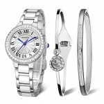 MAMONA Women's Quartz Watch Bracelet Gift Set