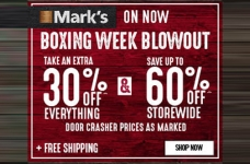 Mark's Boxing Week Blowout + Free Shipping